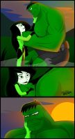 Hulk And Shego by hotrod2001