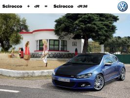 VW Scirocco R36 Concept by Pisci