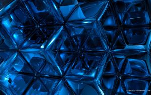 Blue Abstract by 3DWS