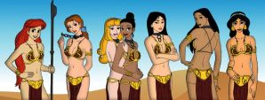 Disney Princesses Cosplaying Princess Leia by jmascia