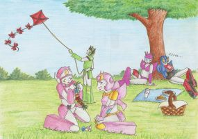 Commission- Familly on picnic by Nortstar