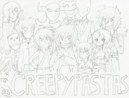 Creepypastas-unfinished by art1st-guy