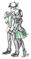 Codette x Neal (Proxy High) by MikuPapercraft