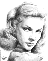 Lauren Bacall (Pencil Drawing) by wilson-santos