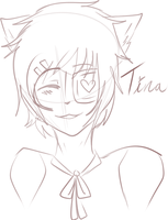 [KKT] Tina Sketch by CoffehKittehFluff