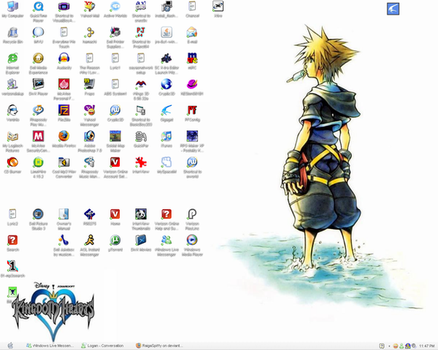 Kingdom Hearts Desktop by RaigaSpiffy