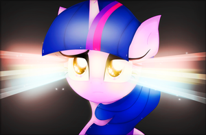Twilight Sparkle - Rainbow Eyes by Tia-Celis