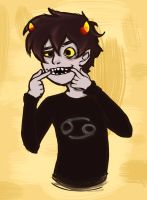 karkat pulling faces by findingghost