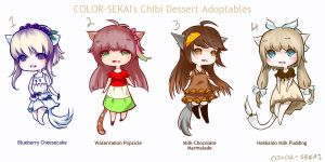 Dessert-Themed Adoptables [OPEN] by color-sekai