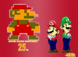 Super mario brothers 25th. by kjshadows131