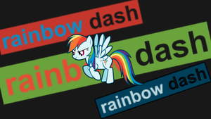 Rainbow Dash Wallpaper (text banner) by uxyd