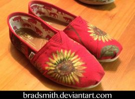 Hand Painted Toms Sunflowers by bradsmith20