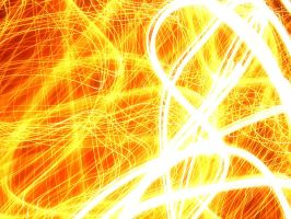 Swirling Orange Flame by ImageAbstraction