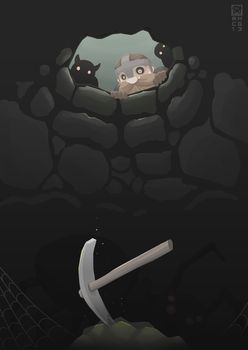 Ops, dropped my pickaxe. by RoseCG