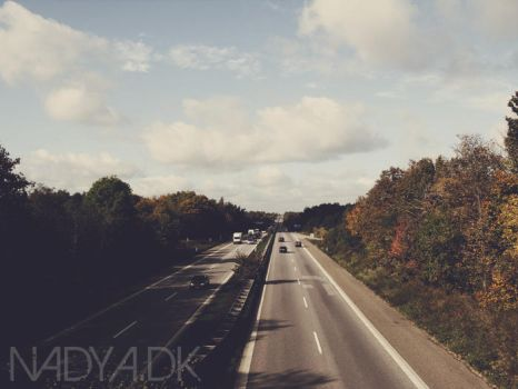 Autumn Highway by nadda1984