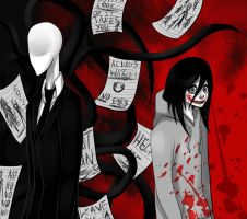 jeff the killer and slender man by Gresta-GraceM
