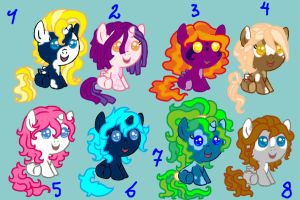 Baby Pony Adoptables 03 CLOSED by Sarahostervig