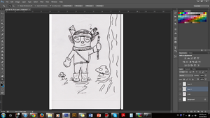 Doing a fan art of Teemo from Lol by Someliar