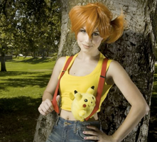 Misty and Pikachu by TheRealLittleMermaid