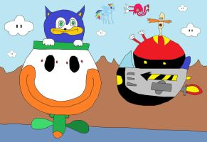 SANIC ASKA BOWZER KOOPER 4 HIS RIDE 2 BEET EGGMAN by unimpeachable