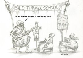 Warmachine: Bile Thrall School by Pydracor