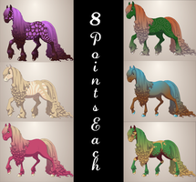 Colorful Horse Adoptables [5 Points Each] by EnchantedEquine