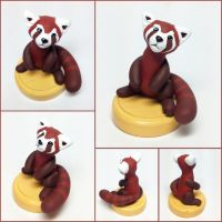 Pabu Miniature Sculpture by LeiliaClay