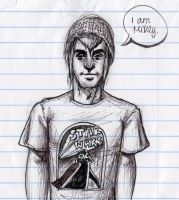 Mikey Way Sketch by Nuggetinator