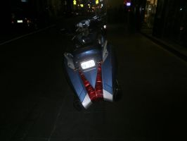motorcycle at night 8 by LuchareStock