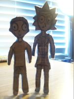 Cardboard Rick and Morty Cutout by LexichaCpasta