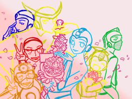 Robot Master Host Club -WIP- by MrTwinklehead