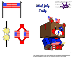 4th of July Teddy Bear with headband boppers Part2 by SKGaleana