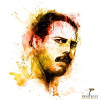 Freddie Mercury Portrait 2 by Prestegui
