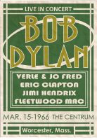 Poster All Type Bob Dylan by Dobrowisch