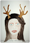 Girl With Antlers by Joalita-lady