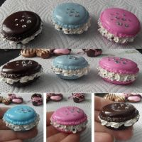 Fancy macaroons by Charly-chan