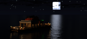 Boating at night by LockRikard