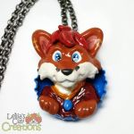 Thomas the Fox Bottle Cap Necklace by LeiliaClay