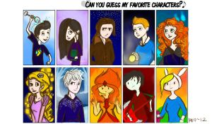 Favourite Characters Meme by Vanilla-Fireflies