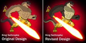 Original vs Revised - King Sethrophe by BennytheBeast
