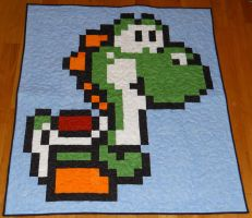 Yoshi Quilt by quiltoni