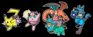 Smash Stickers: Pokemon Set by Tee-J