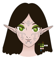 UNFINISHED - Dragon Age II Merrill with long hair by Angelkitty17