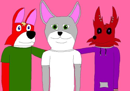 Me, Axerah, and Fai (colored) by JonHankercheif