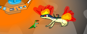 Littlequil and Laellynasaura by BudCharles