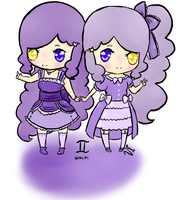 Chibi Gemini for BlueHecate by SunflowerDragon