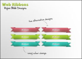 Web Ribbons by ryan-bibb
