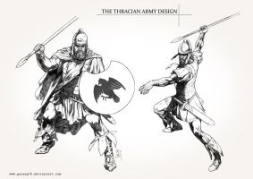 Thracian Army costume Sketch by AdmiraWijaya