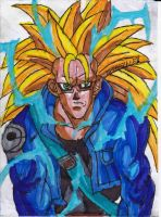 Annoyed SSJ3 Trunks by ChahlesXavier