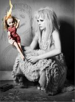 Avril with doll by punkers3